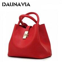 DAUNAVIA 2018 Vintage Women's Handbags Famous Fashion Brand Candy Shoulder Bags Ladies Totes Simple Trapeze Women Messenger Bag
