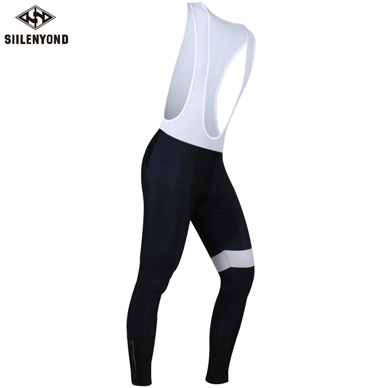 Siilenyond 2019 Winter Pro Keep Warm Cycling Bib Pants Thermal Cycling Bib Tights With 3D Coolmax Gel Padded For Men 1