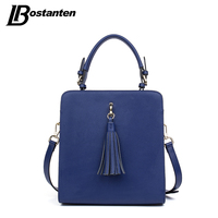 BOSTANTEN Cow Genuine Leather Women Bags Luxury Handbags Women Bags Designer High Quality Tassel Small Lady