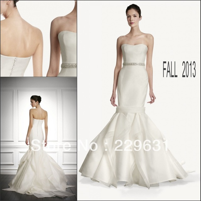 Us 188 0 Unique Strapless Elongate Fitting Bodice Handkerchief Memrmaid Skirt Muslim Bridal Gown Patterns In Wedding Dresses From Weddings Events