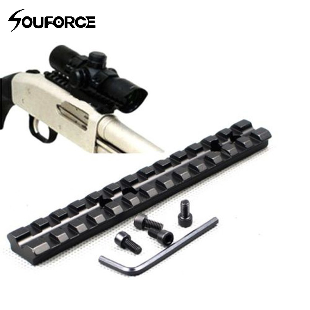 Tactical 20mm 13 Slots Picatinny Weaver Rail Base Adapter Hunting Rifle Gun Scope Converter Laser Sight Base Flashlight Mount