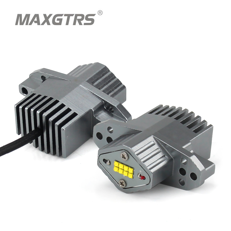 MAXGTRS 2x LED Angle Eyes Error free 80W 4400LM/PAIR For BMW E90 E91 LCI All Models Marker Fog DRL Daytime Running Light
