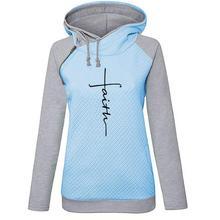 2019 New Autumn Women Letter Embroidered Hoodies Sweatshirt Femmes Tops Pattern Thick Sweatshirts Frauen Cotton