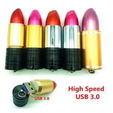High Speed USB 3.0 Flash Drive Fashion 4G 8GB 16GB 32GB 64G Lipstick Pendrive USB Stick Popular Gift for Girls New Arrival Gift