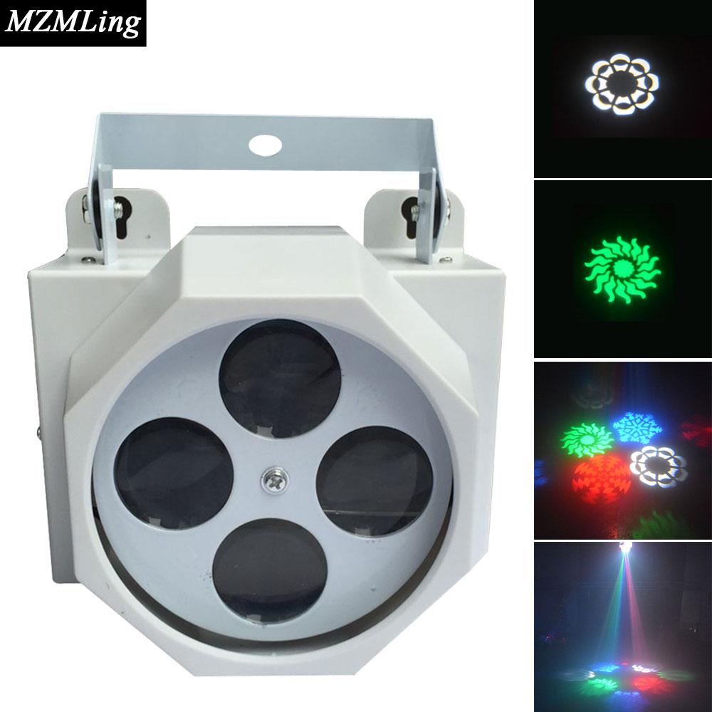 4x3w RGBW CREE Led Effect Light DMX512 DJ /Bar /Party /Show /Stage Light LED Stage Machine rg mini 3 lens 24 patterns led laser projector stage lighting effect 3w blue for dj disco party club laser
