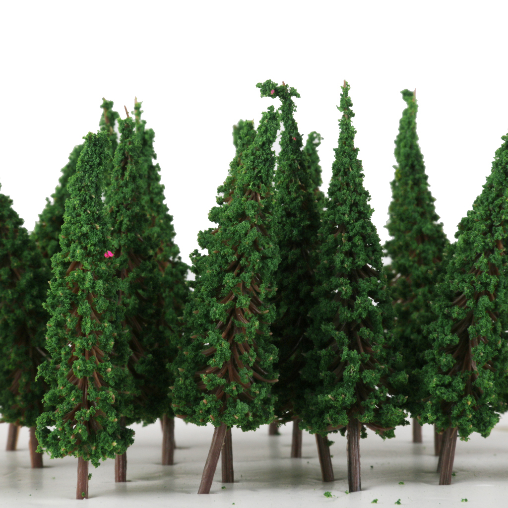 50 Green Pagoda Trees Model Train Railway Park Street Scenery HO 1/100 Scale 6.5cm