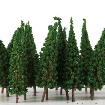 50 árboles de Pagoda verde modelo tren parque ferroviario escenario de calle HO 1/100 escala 6,5 cm