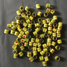 2021 pigeon rings bird ring Yellow FCC 2021 000001 000100 with flag of CUBA big words high quality 8mm inner rings size