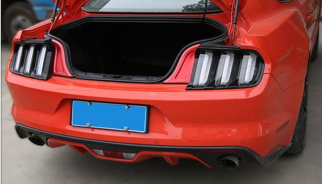 chrome interior accessories car trunk light trim for ford mustang
