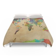 Buy world map bedding sets and get free shipping on aliexpress charm home world map bedding set size 4pcs gumiabroncs Image collections