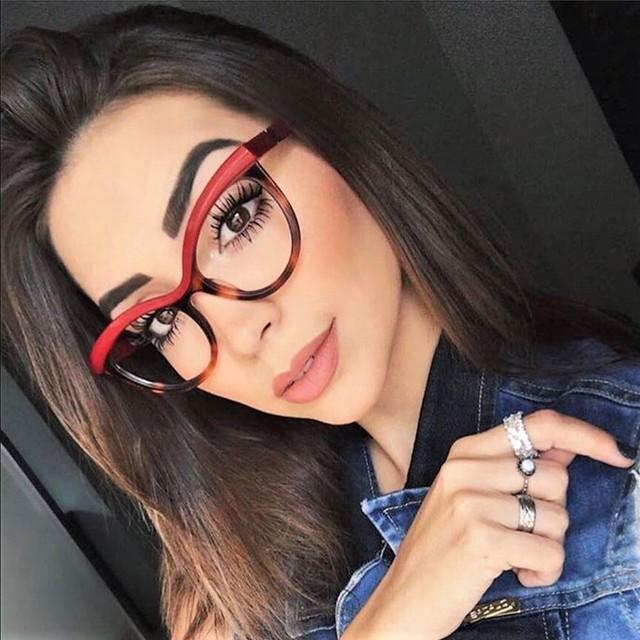 45490 Ladies Eyebrows Square Glasses Frames Women Brand Designer Optical EyeGlasses Fashion Eyewear Computer Glasses