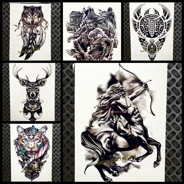 Western Mythologie Style Tatouage Temporaire Pour Les Hommes Femmes