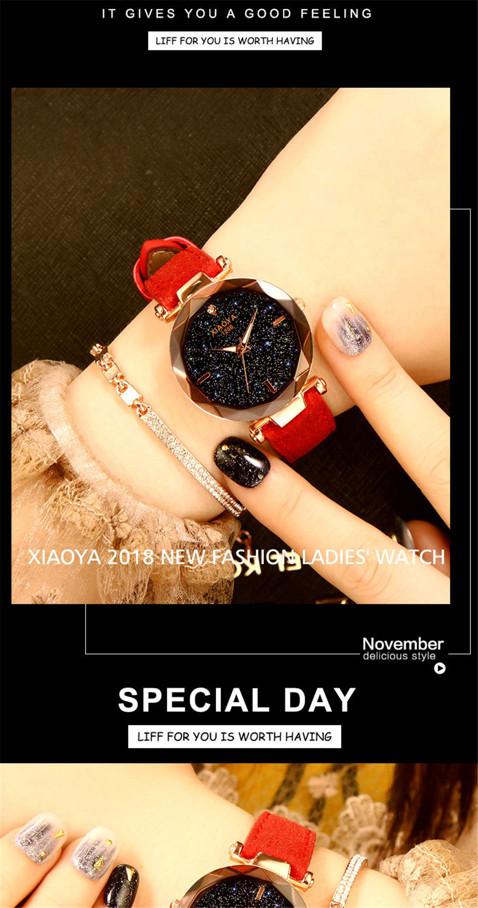 2018 Starry Sky Watch Women Minimalist Top Brand Luxury Wrist Watch For Ladies Female Clock Damski Montre Femme (8)