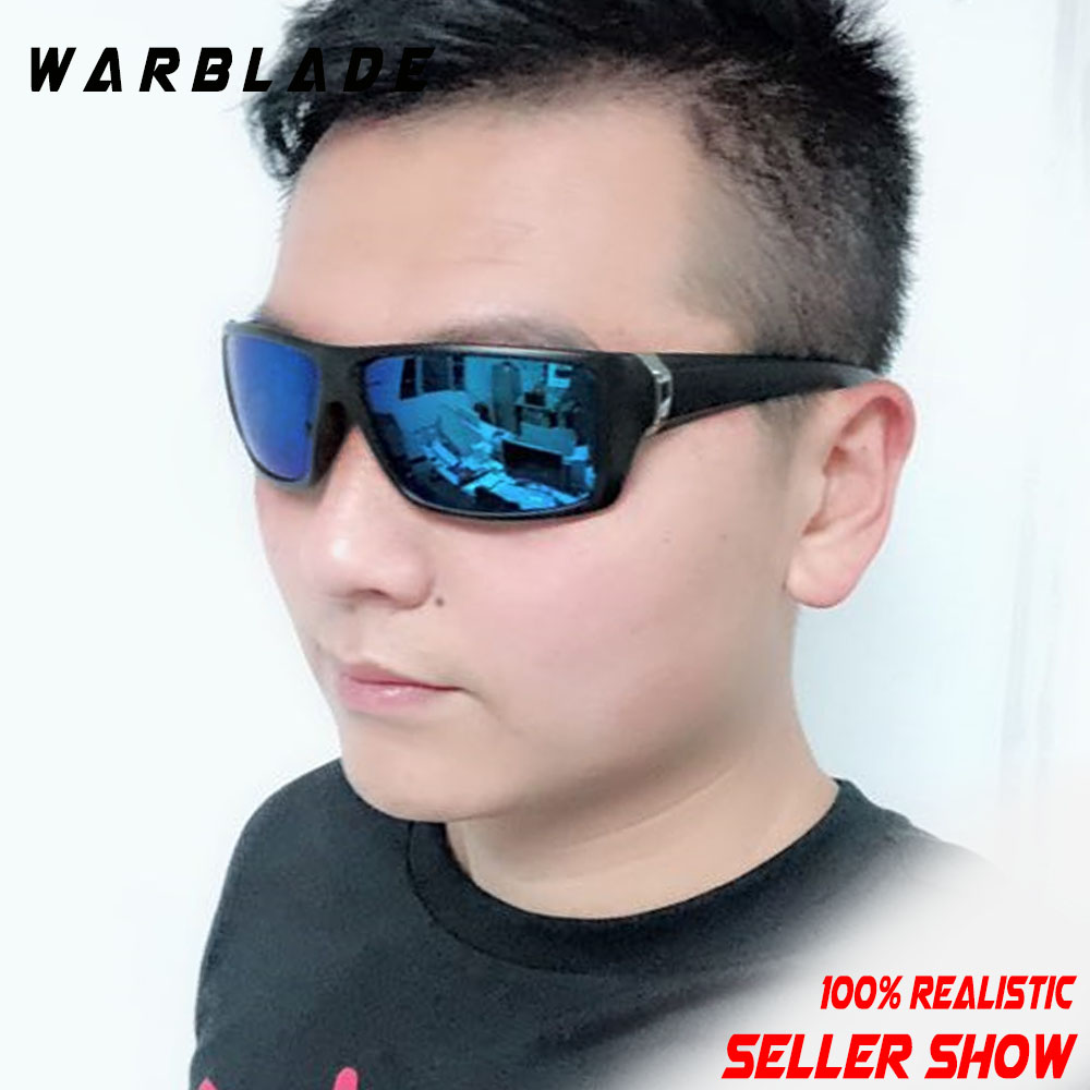 b4ab69c4de Gafas de sol polarizadas de marca WARBLADE para hombre, gafas de conducción  rectangulares, gafas deportivas, gafas protectoras de Sol para hombres, 2018