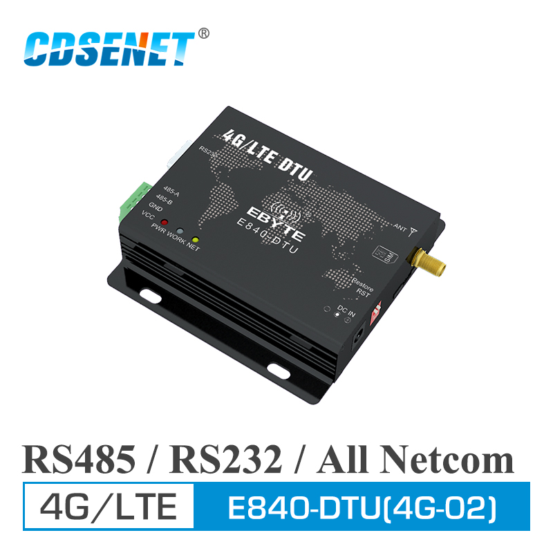 Image 1 - RS232 RS485 4G LET Modem Wireless Transceiver E840 DTU(4G 02) IoT Data Transmitter RF Module-in Fixed Wireless Terminals from Cellphones & Telecommunications