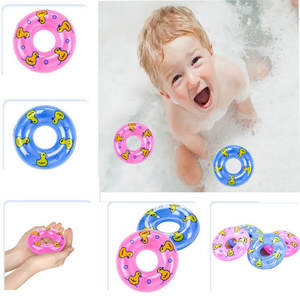Wash Mini Swimming Rings Cute Floating Bath Toys for Baby