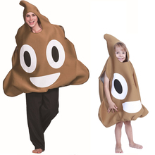 KTLPARTY Kid Adult Halloween party cosplay carnival funny poop costume jumpsuit