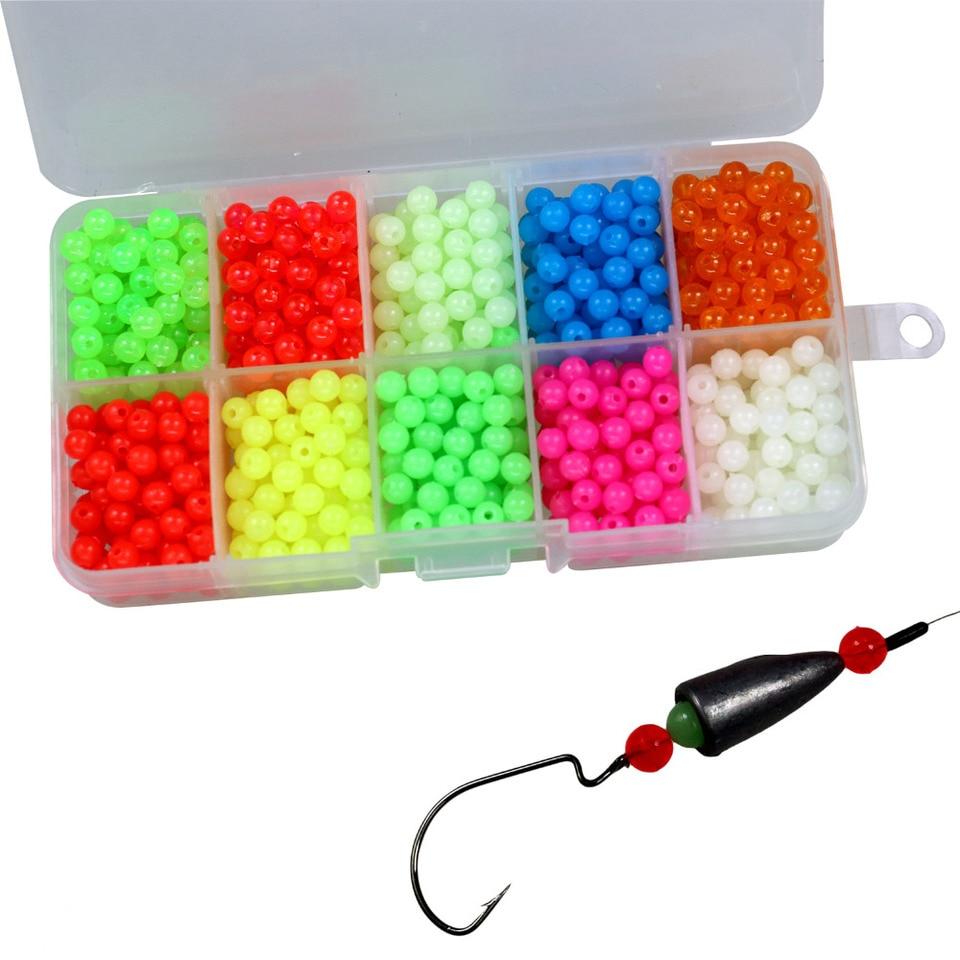 100Pcs Luminous Glow in Dark Rig Beads Fishing Lure Floating Tackles Surprise