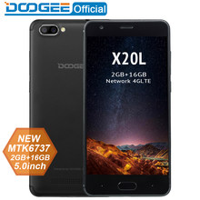 DOOGEE X20L נייד טלפון Dual מצלמה 5.0MP + 5.0MP אנדרואיד 7.0 2580mAh 5.0 ''HD MTK6737 Quad Core 2GB זיכרון RAM 16GB ROM Smartphone 4 4GLTE(China)