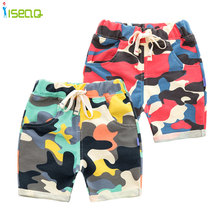 Camouflage shorts cartoon boy summer kids children denim jeans trousers 2-6T BP004