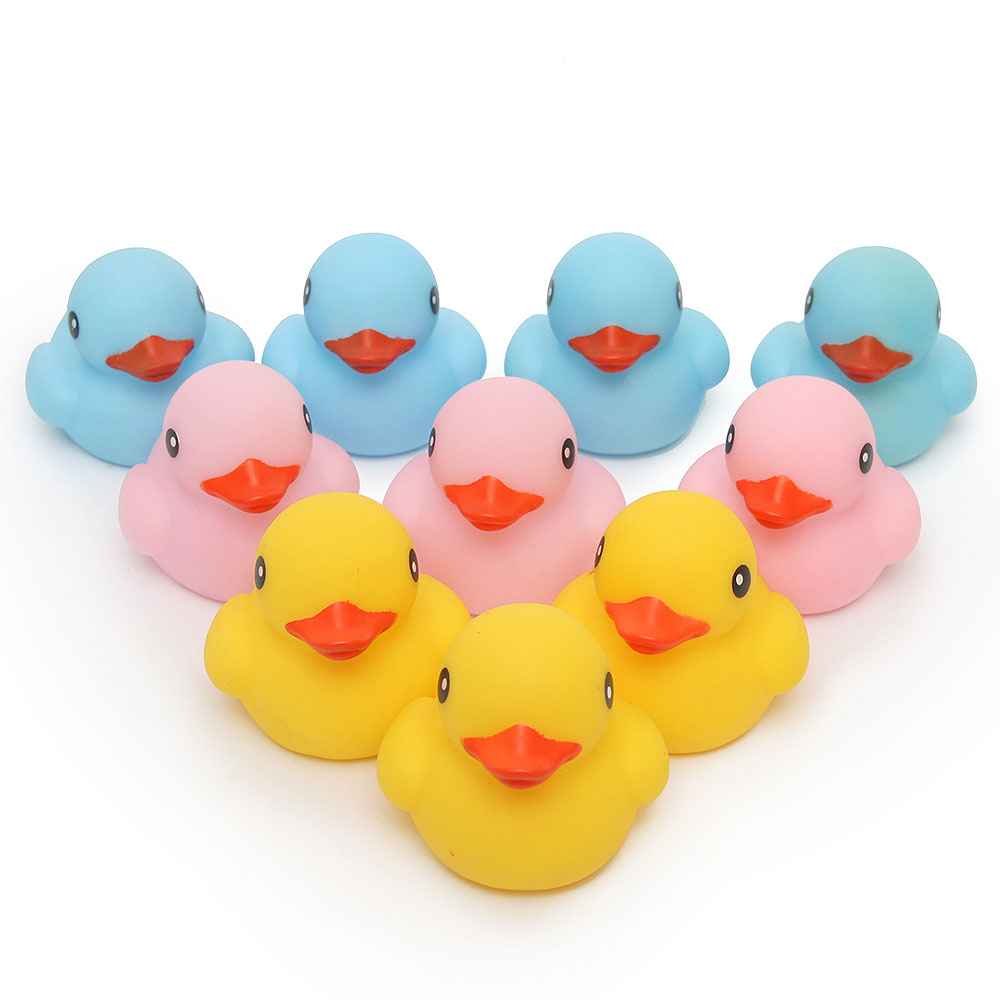 10pcs the classic Baby Kids pink/yellow/blue Rubber floating Ducks ...