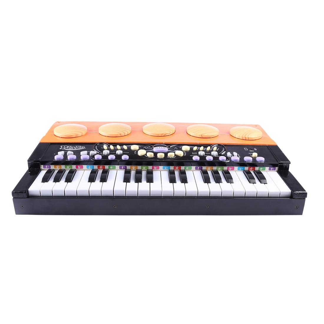 37 clés Mini Piano Vertical en bois Grand Instrument de musique précoce jouets éducatifs pour enfants-noir