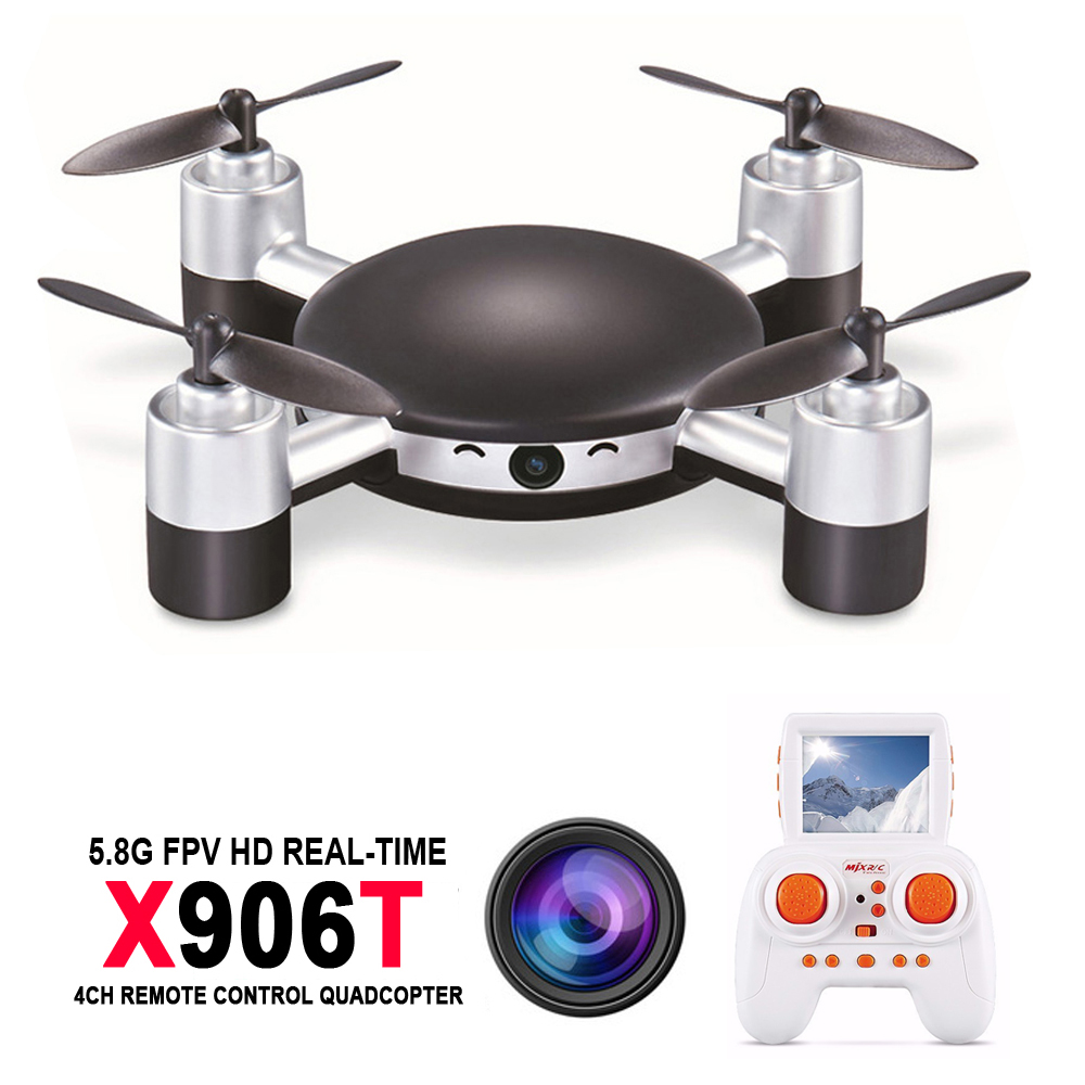 MJX X906T Mini RC Drone 6-AXIS GYRO Quadrocopter RC FPV Drone Helicopter HD Camera Wifi Mando Remote Control Copter Toy радиоуправляемый инверторный квадрокоптер mjx x904 rtf 2 4g x904 mjx