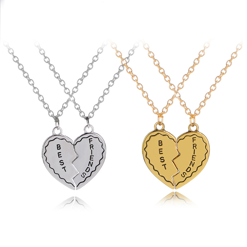 Jewels Obsession Silver Breakable Forever Lovers Saying Pendant 14K Yellow Gold-plated 925 Silver Breakable Forever Lovers Saying Pendant