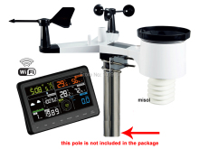 Wireless weather station connect to WiFi, upload data to web wunderground, WS WH2900 1
