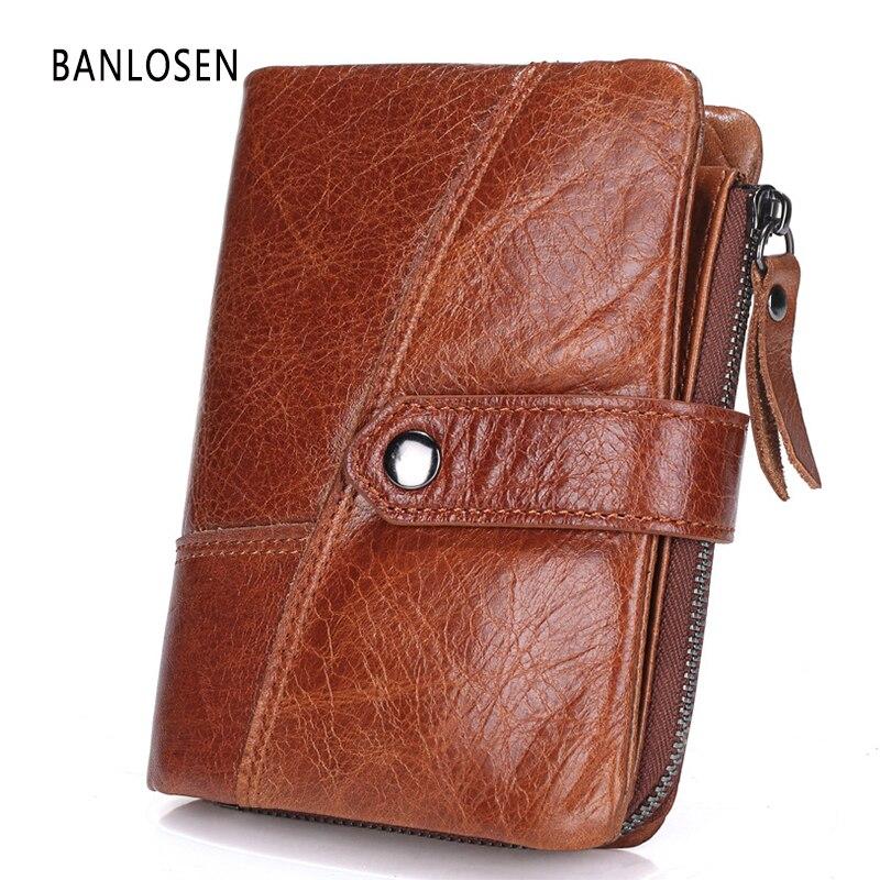 BANLOSEN Genuine Leather Men Wallets Europe…