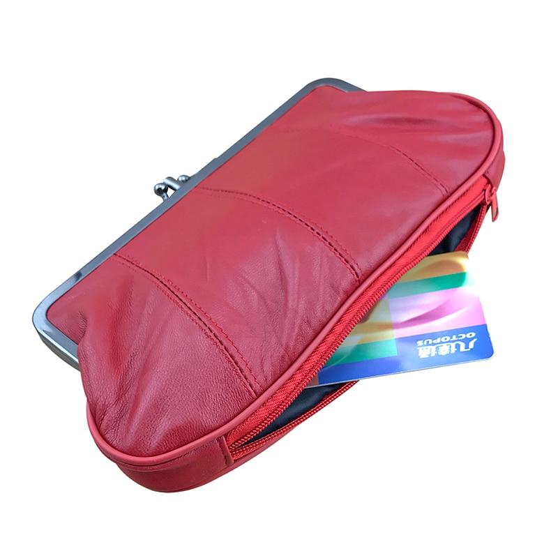 BELLO TUTTI Genuine Leather Coin Purse Original Design Sheepskin Long Purse Card Holder Wallets Bag Women Girls Change Purse
