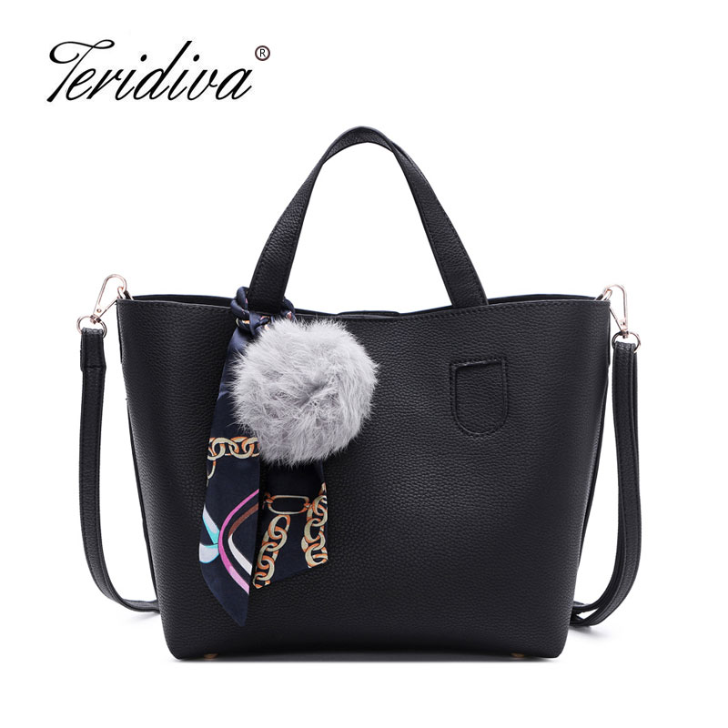 f286ee7166a5 Teridiva Lowest Price Brand 2 Bags Set Vintage Women Bag High Quality Women  Messenger Bags