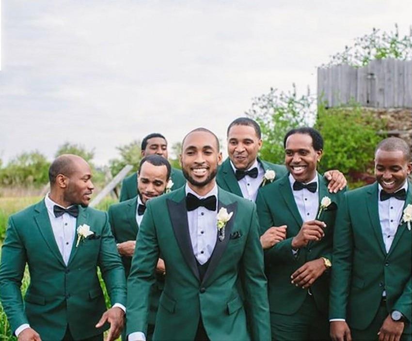 New Green Men Suits For Wedding Skinny Groom Suits Wedding Suits For Men Best Man Party Formal Blazer Men Suits Ternos 2 Pieces