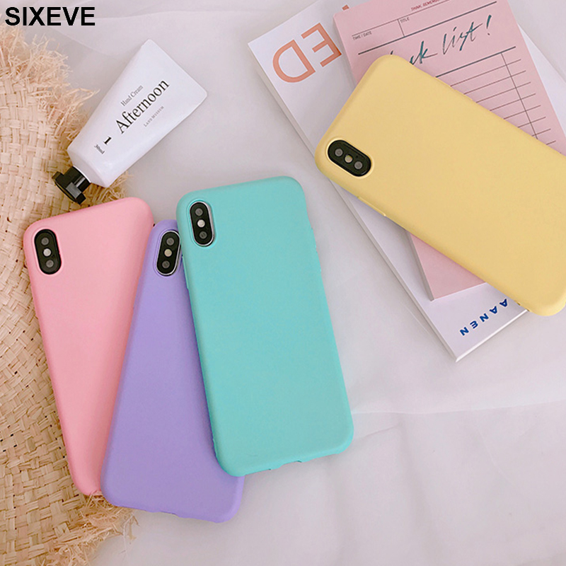 Soft-Tpu-Case Cell-Phone-Cover S6-Edge Candy-Colors Plus Samsung Galaxy Note-3 S5
