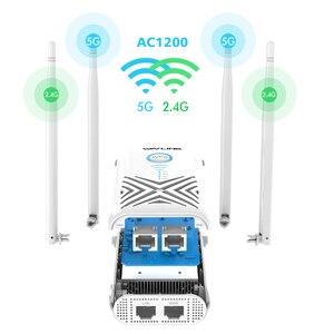 Image 4 - 】Wavlinkフルギガビット 1200 300mbpsの無線lanリピータエクステンダー/アンプ/ルータ/アクセスポイントワイヤレスデュアルバンド 2.4 グラム/5 グラム 4x5dBiアンテナ