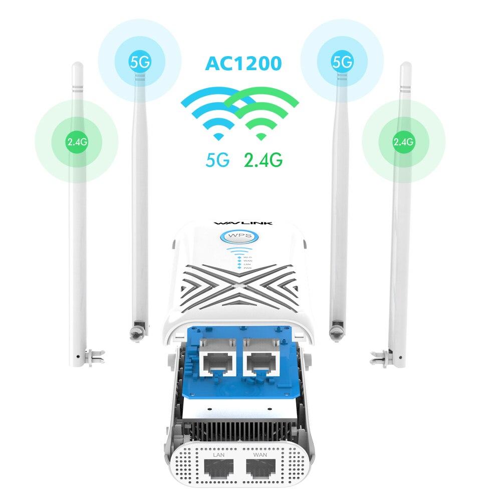 Wavlink 1200Mbps wifi répéteur Extender/amplificateur/routeur/Point d'accès Gigabit sans fil double bande 2.4G/5G externe 5dBi antennes - 4