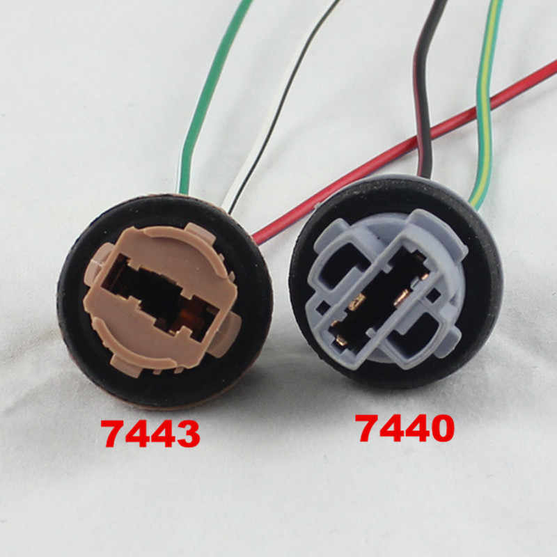 FSYLX 2pcs T20 7440 7443 LED bulb holder LED socket adapter connector LED parking side light lamp Wiring Harness adaptor Socket