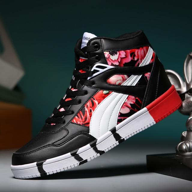 2019 Brand Men Skateboard Shoes Unisex Leather hip hop Sneakers Lace-up Athletic Women Sport Shoes Tenis Feminino Esportivo