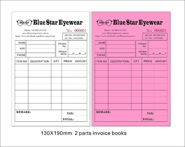 Custom print Size13X19cm Invoice books ,Carbonless receipt invoice - invoice shipping