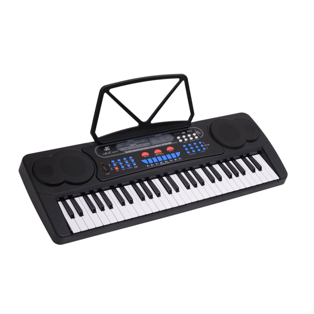 New 54 Keys Music Digital Keyboard Piano Electronic Piano Organ with Music Stand Microphone Electronic Or Educational Toys Piano 11 key electronic music box piano toy red 3 x aa