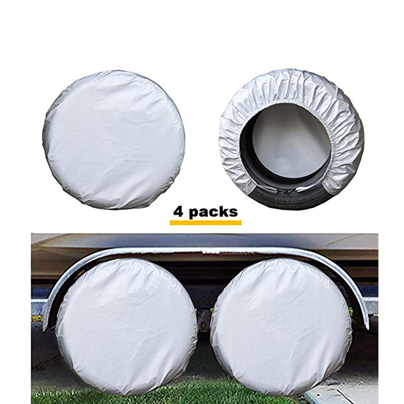 Kayme Four Layer Tire Covers Set Of 4 For Rv Travel Trailer Camper SUV Vinyl Wheel Sunscreen,Rain and Snow Protection Waterproof-in Car Covers from Automobiles & Motorcycles