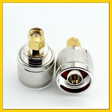 цена на 15PCS  WIFI antenna Adapter  N Male Plug to SMA Male Plug Straight RF Connector Adapter