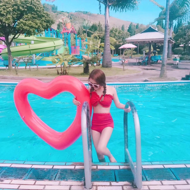 Sweet Heart Fun Fruit Lemon Watermelon Swimming Ring Inflatable Mattress Float Water For Adult Child Pool Float Party Toys