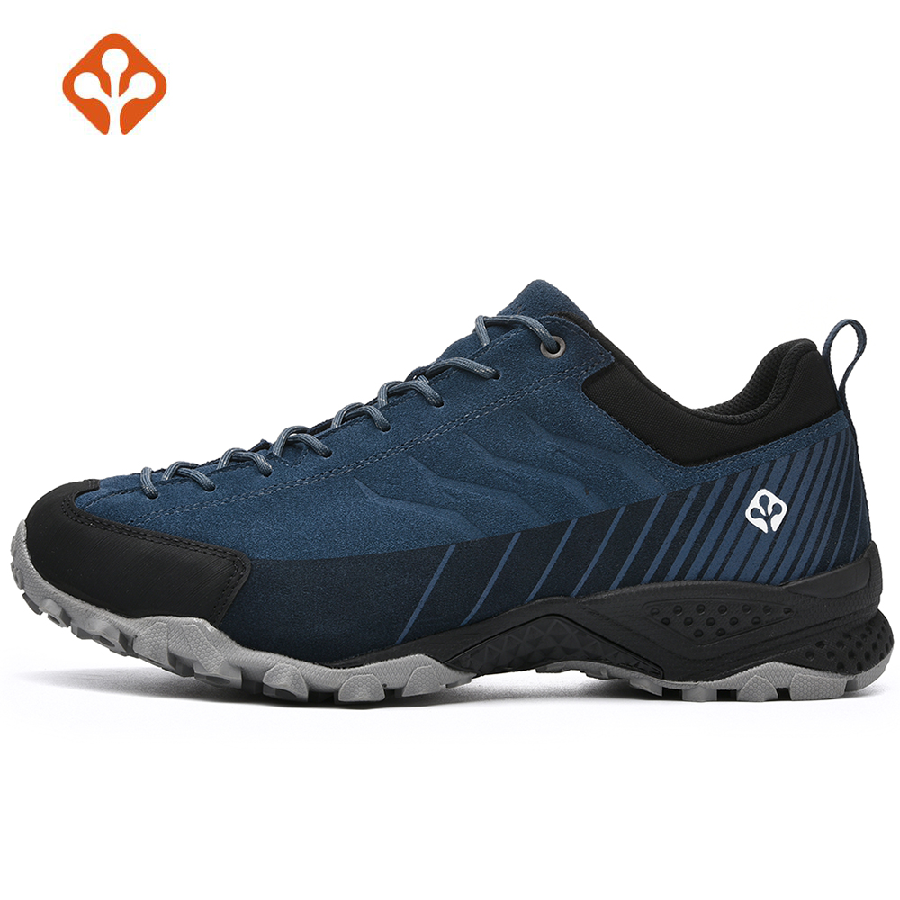 Mens Fur Leather Sports Outdoor Trekking Hiking Shoes Sneakers For Men Skidproof Climbing Mountain Shoes Man