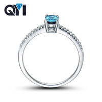 QYI Simple Natural Topaz Ring For Women Trendy 0.5 ct Oval Cut Gemstone Engagement Wedding Rings S925 silver Anniversary Jewelry
