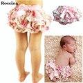 0-3Y Bebê Recém-nascido de Algodão Chiffon Ruffle Bloomers Cover Tecido Do Bebê Recém-nascido Leopardo Floral Calções de Verão Criança Roupas de Bebê