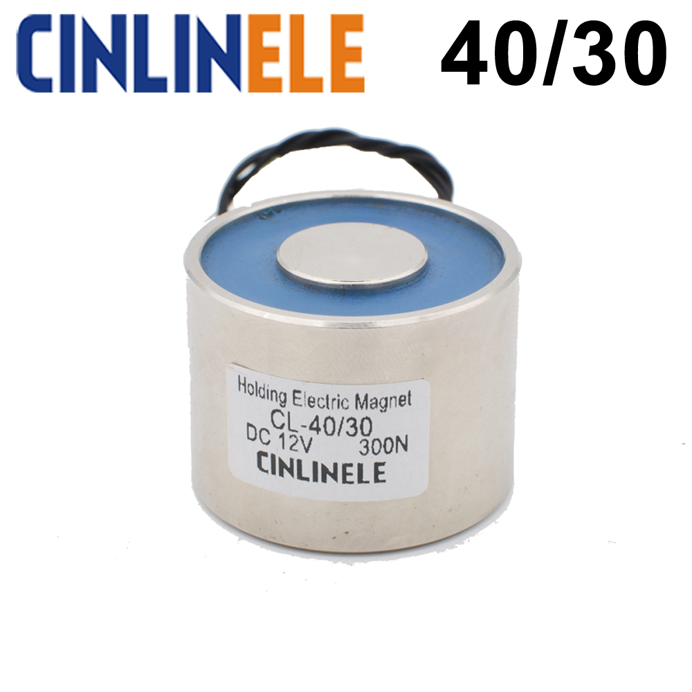 CL-P 40/30 30KG/300N Holding Electric Magnet Lifting Solenoid Sucker Electromagnet DC 6V 12V 24V Non-standard custom
