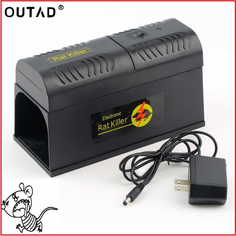 OUTAD New High Quality Electrocute Electronic Rat Trap Mice Mouse Rodent Killer Electric Shock US Plug Adapter High Voltage ...