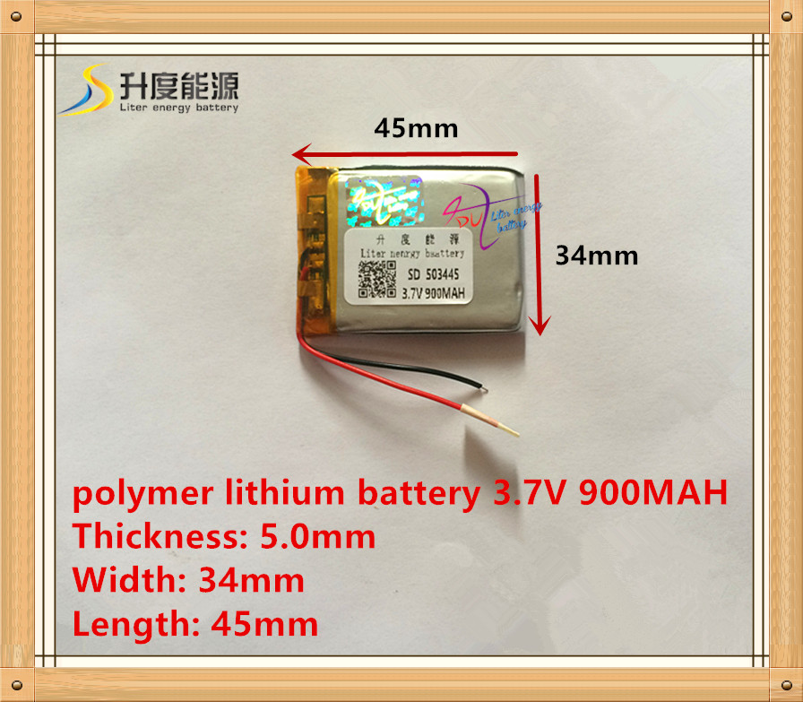 503445 Rechargeable Lithium Polymer 3.7V 900mAh Li-ion Batteri För Bluetooth Headset Högtalare GPS PDA MP3 MP4 MP5 053443
