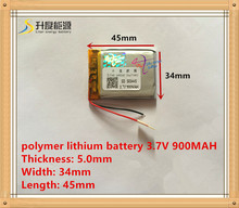 503445 Rechargeable Lithium Polymer 3.7V 900mAh Li-ion Battery For bluetooth headset Speaker GPS PDA MP3 MP4 MP5 053443